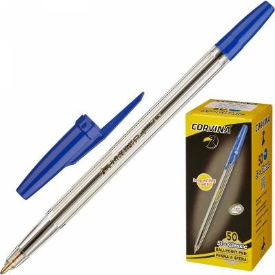 Ручка шариковая Universal Corvina синяя (толщина линии 0.7 мм)