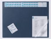 Коврик на стол DURABLE  с календ. 52х65 с прозр.лист Синий