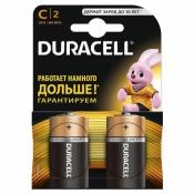 Батарейки Duracell средние C LR14 (2 штуки в упаковке)