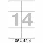 Этикетки самоклеящиеся ProMega Label белые 105х42.4 мм (14 штук на листе А4, 100 листов в упаковке)