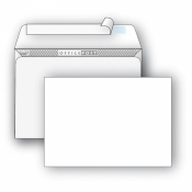 Конверт почтовый OfficePost E65 (110x220 мм) белый удаляемая лента (1000 штук в упаковке)