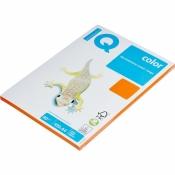 Бумага цветная для офисной техники IQ Color (A4, 80 г/кв.м, OR43-оранжевый, 100 листов)