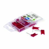 Кнопки силовые Флажки,красные, 15 мм, 25 штук в упаковке Durable