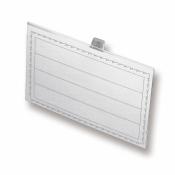 Бейджик Attache с металлическим зажимом и булавкой для карточек 90х60 мм
