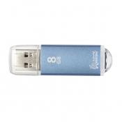 Флеш-память SmartBuy V-Cut 8 Gb USB 2.0 голубая