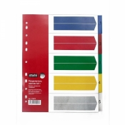 Разделитель листов Attache Selection А4+ пластиковый 5 листов (цифровой)
