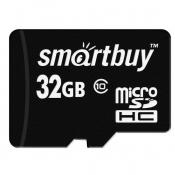 Карта памяти SmartBuy microSDHC 32 Gb Class 10 (SB32GBSDCL10-01)
