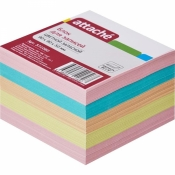 Блок-кубик Attache запасной цветной 90х90х50 мм