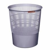 Корзина для мусора СТАММ 18 л (пластик, серая)