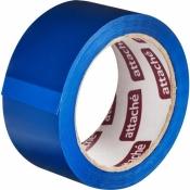 Клейкая лента упаковочная (скотч)Attache синий 48 мм x 66 м плотность 45 мкм
