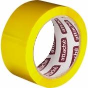 Клейкая лента упаковочная(скотч) Attache желтый 48 мм x 66 м плотность 45 мкм