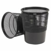 Корзина для мусора СТАММ 18 л (пластик, черная)