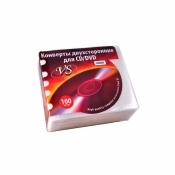 Конверты CD с перф. белые 100шт *VSCAEW-100-SW