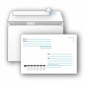Конверт почтовый ForPost C4 (229x324 мм) Куда-Кому белый удаляемая лента (250 штук в упаковке)