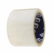 Клейкая лента упаковочная (скотч) прозрачная 72 мм х 66 м плотность 40 мкм