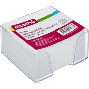 Блок для записей Attache 90х90х50 мм белый в прозрачном боксе (белизна 92-100%)