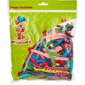 Набор шаров Пати Бум для моделирования ассорти из 14 цветов (100 штук в упаковке, 27 см)