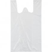 Пакет-майка ПНД белый 12 мкм (25+12х45 см, 100 штук в упаковке)