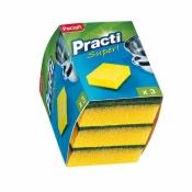 Губки для мытья посуды Paclan Practi поролоновые 70x90 мм 3 штуки в упаковке