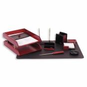 Набор настольный Good Sunrise деревянный 9 предметов темно-красный