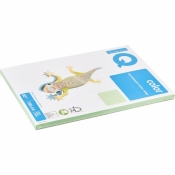 Бумага цветная для офисной техники IQ Color (A4, 80 г/кв.м, MG28-зеленый, 100 листов)