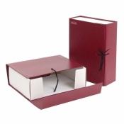 Короб архивный Attache А4 бумвинил красный (складной, 100 мм, 2 х/б завязки)