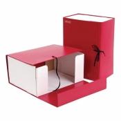Короб архивный Attache А4 бумвинил красный (складной, 150 мм, 2 х/б завязки)