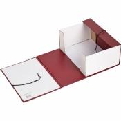 Короб архивный Attache А4 бумвинил красный (складной, 120 мм, 2 х/б завязки)