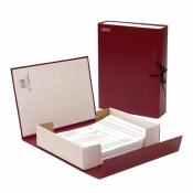Короб архивный Attache А4 бумвинил красный (складной, 70 мм, бумвинил, 2 х/б завязки)