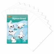 Белый картон  (А4, 10 листов, 1 цвет)