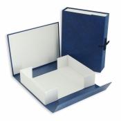 Короб архивный А4 бумвинил синий (нескладной, 70 мм, 2 х/б завязки)