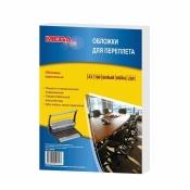 Обложки для переплета картонные ProMEGA Office А3 230 г/кв.м белые текстура кожа (100 штук в упаковке)