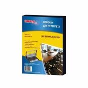 Обложки для переплета картонные ProMEGA Office A4 250 г/кв.м черные текстура лен (100 штук в упаковке)