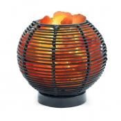 Лампа Соляная Ваза шар ротанг 5,5 кг