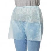 Штаны одноразовые нестерильные с разрезом размер 52-54 голубые (20 штук в упаковке)