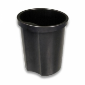Корзина для мусора с держателем СТАММ (12 л, пластик, черная)