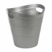 Корзина для мусора Uniplast 12 л (пластик, серая, с ручками)