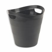 Корзина для мусора 12 л Uniplast (пластик, черная, с ручками)