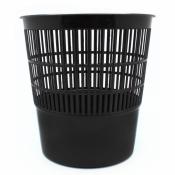 Корзина для мусора 10 л (пластик, черная)