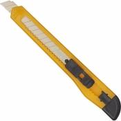 Нож канцелярский 18 мм с фиксатором Ассорти