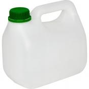 Канистра пластик 2 л белая с крышкой