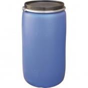 Бочка из ПНД 230 л синяя с крышкой