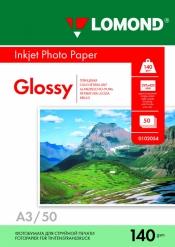 Односторонняя Глянцевая фотобумага для струйной печати, A3, 140 г/м2, 50 листов