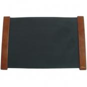 Коврик на стол DURABLE  с календ. 42х65 с Черный лист Деревянный борт Орех