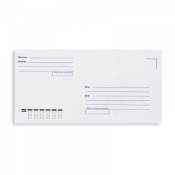 Конверт почтовый ForPost Е65 (110x220 мм) Куда-Кому белый удаляемая лента (1000 штук в упаковке)